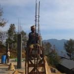 Tieing rebar for pillar